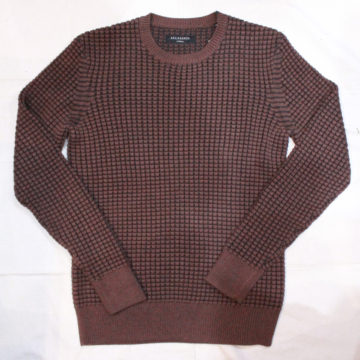 ALLSAINTS/Waffle Cotton Sweater/Brown/16,524