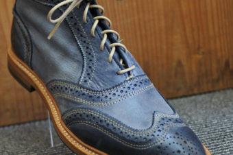 Allen Edmonds/Cronmok/Wingtip Boots/Navy/64,800