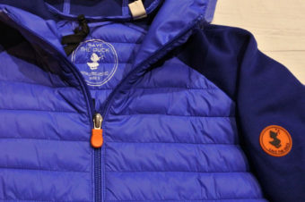 Save The Duck/Nylon Jersey Hooded Jacket/Blue/21,600