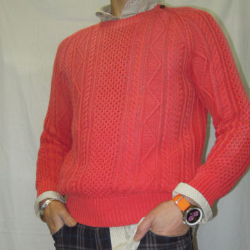 Ralph lauren/Washed Cotton Sweater/Red/27,000