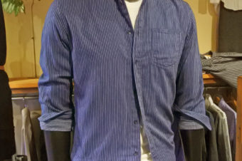 BANANA REPUBLIC/INDIAN COTTON STRIPE SHIRTS/10,260
