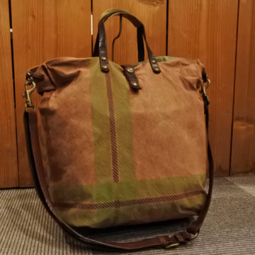 CAMPOMAGGI/CHECK CANVAS TOTE BAG/42,120