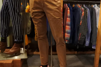 HAMAKI-HO/COTTON STRETCH PANTS/16,200