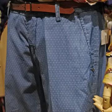 GABARDINE/COTTON DOT PANTS/19,980