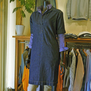 RALPH LAUREN/SHORT SLEEVE DENIM DRESS/16,200