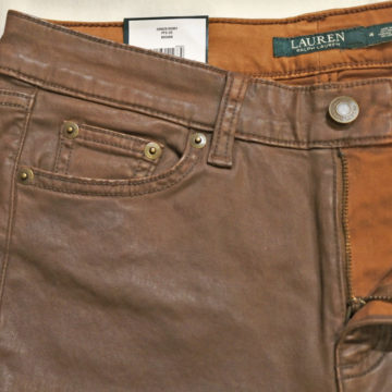 RALPH LAUREN/COATING SKINNY PANTS/15,120