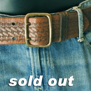 RRL/LEATHER BELT/18,900