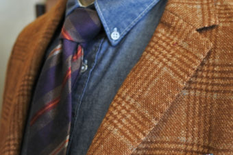 J.W.TABACCHI/WOOL CHECK JACKET/42,120