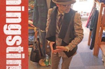 イエロー108のウールハット。帽子は誰でも似合います。
