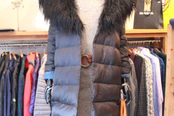 Ralph Lauren/Fake Fur Down Coat/Black/27,540