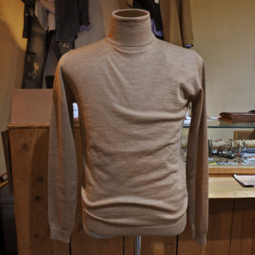 Hamaki-Ho/Wool Turtle Sweater/Camel/12,960