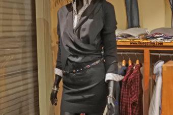 ALLSAINTS/WOOL PANEL DRESS/18,900/AS-2-011