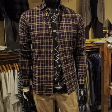 FIL NOIR/HERRINGBONE CHECK SHIRTS/18,700