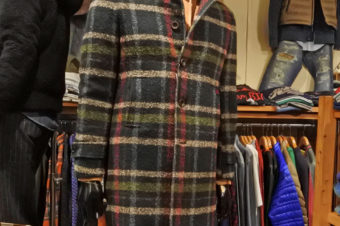 Giacche/WOOL CHECK COAT/80,300
