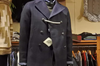 CAMPLIN/RAIN WOOL CHECK PEACOAT/104,500