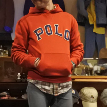 RALPH LAUREN/POLO LOGO HOODED SWEAT/16,200
