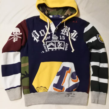 RALPH LAUREN/PATCHWORK RUGBY SWEAT PARKA/29,150