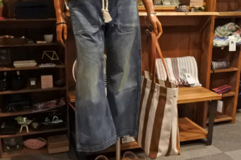 RALPH LAUREN/WIDE DENIM PANTS/18,144