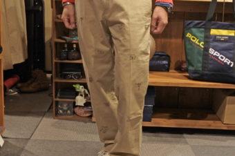 RALPH LAUREN/PRINT CHINO PANTS/19,250