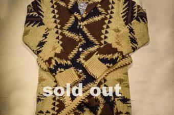 RRL/BRANKET LONG CARDIGAN/165,000→96,800