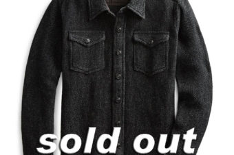 RRL/BLACK INDIGO COTTON LINEN SHIRTS/75,600