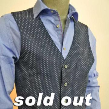 Atelier Scotch/Rayon Cotton Gilet/Navy/21,600