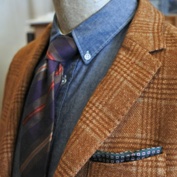 J.W.TABACCHI/WOOL CHECK JACKET/35,100